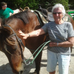 My eldest lady rider at 83. She easily got up on Dulci and did a great job riding.