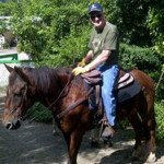 My eldest rider yet. At 86 it'd been years since he'd been on a horse and he did great!